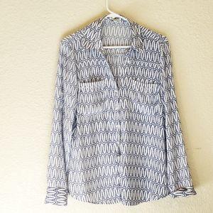 Express portofino Eiffel tower print blouse.